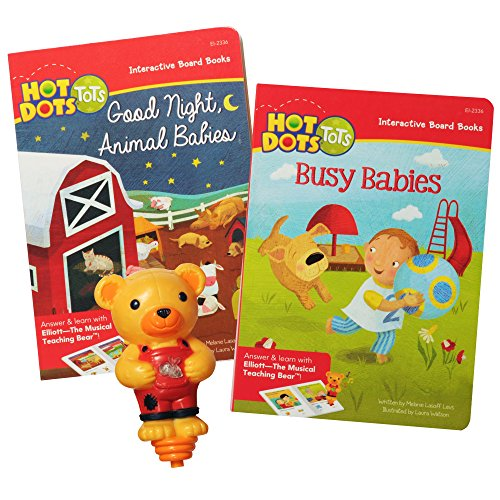 Educational Insights Hot Dots Tots All Kinds of Babies Interactive Board Book Set with Elliott Pen