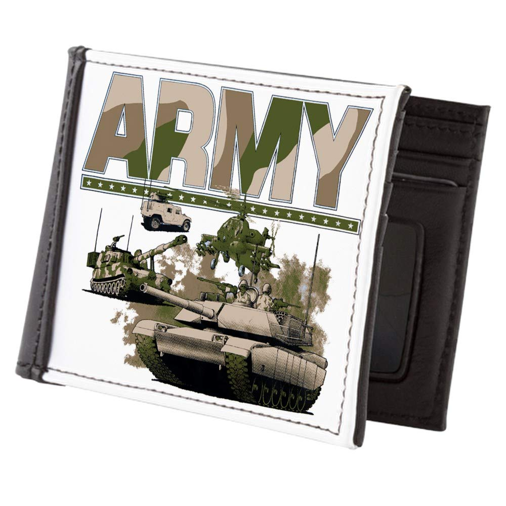 Royal Lion Mens Wallet Billfold US Army Hummer Soldiers Tanks