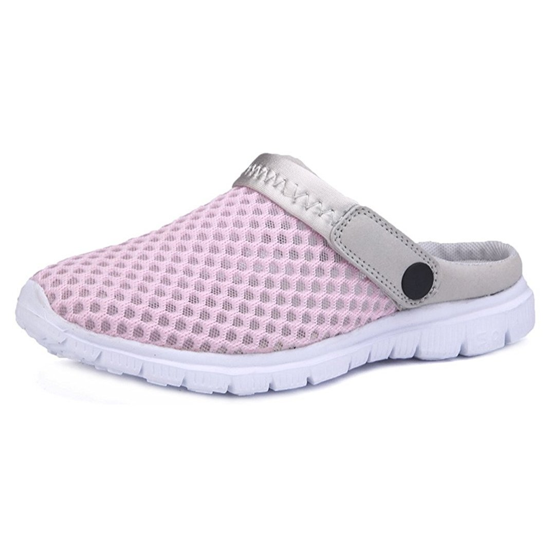 Hibote Unisex-Erwachsene Breathable Mesh Hausschuhe Sandalen Pantoletten Schuhe Pantoletten Schuhe Sommer r Loch Sandalen/zu Fuszlig;/Anti-Slip Beach Sandalen  38 EU|Rosa