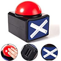 FnieYxiu Game Answer Buzzer Alarm Button Box with Sound Light Party Contest Prop Toy