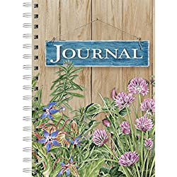 Lang Peony Garden Herb Garden Spiral Journal by Jane Shasky, 6 x 8.25, 240 Ruled Pages (1350006)