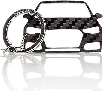 Blackstuff Carbon Karbonfaser Schlüsselanhänger Kompatibel Mit A4 S4 Rs4 B9 8w 2016 Bs 848 Auto