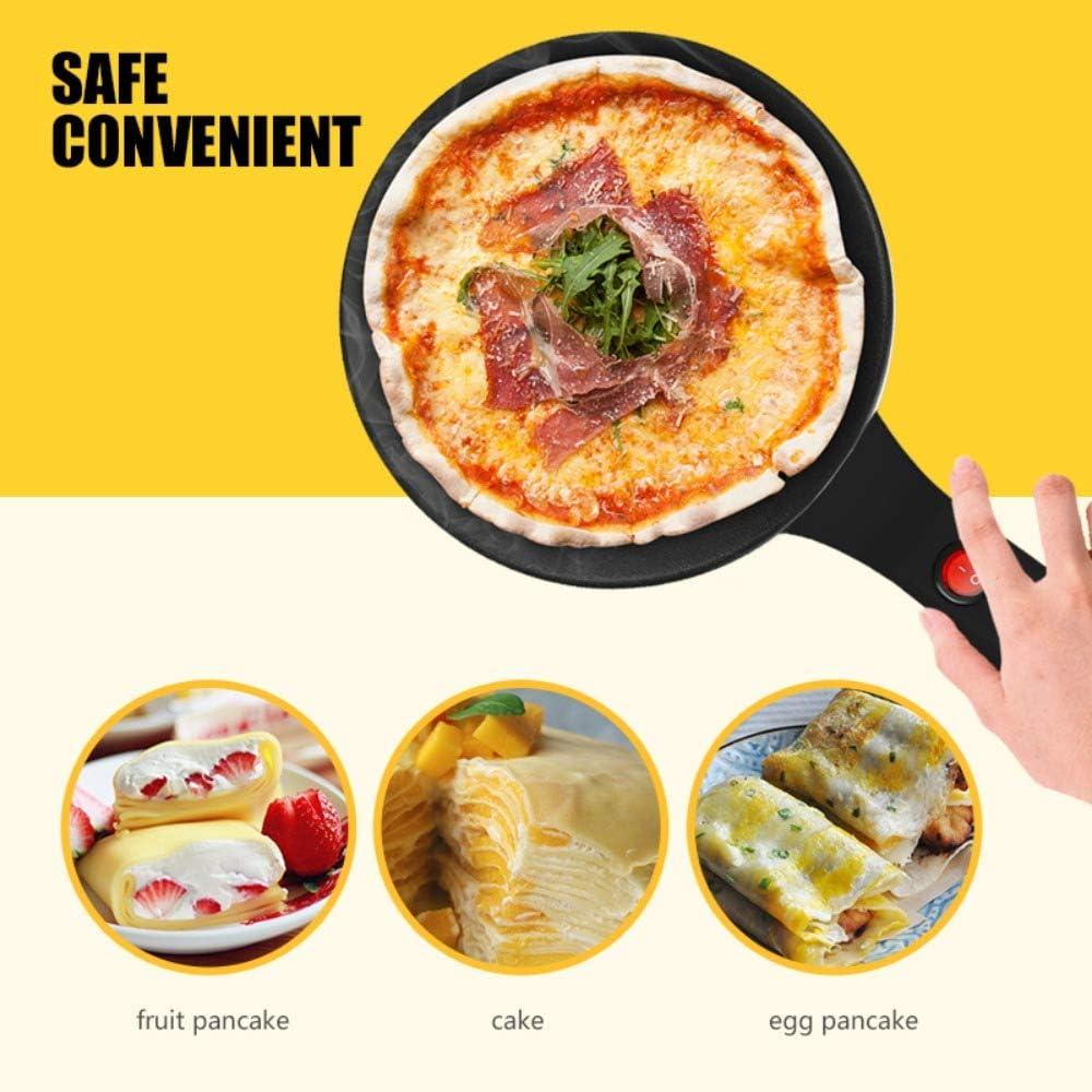 N / A Crepe Maker Elettrico Pizza Pancake Pan Piastra Antiaderente Cottura Tortilla Maker Utensili da Cucina balck
