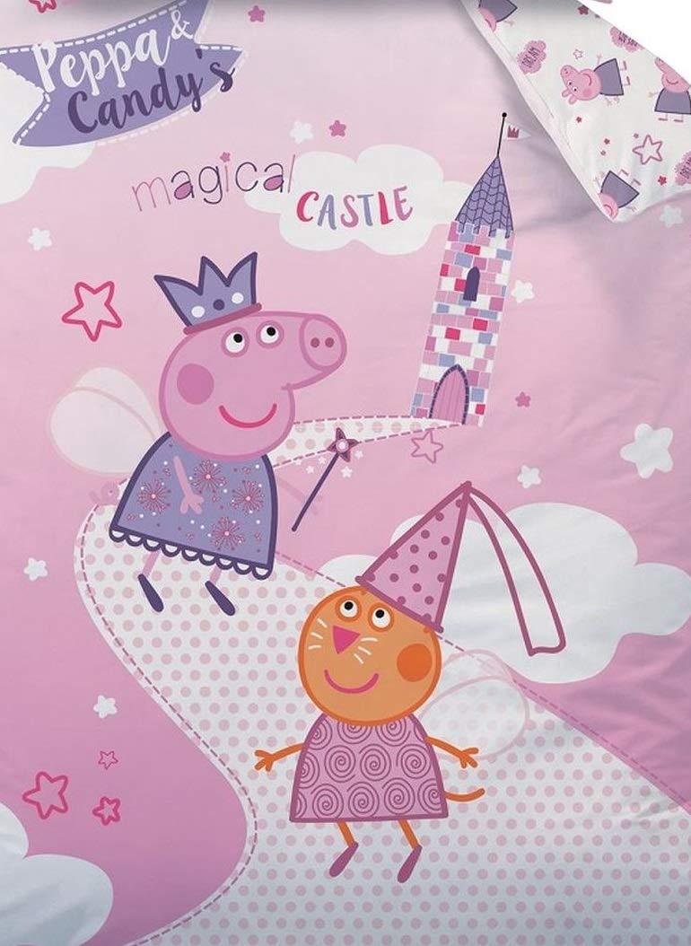 100/% Castor//Franela de algod/ón Rosa 100 x 135 cm 40 x 60 cm Familando Peppa Pig Peppa Pig Baby Juego de Cama tama/ño 100/x 135/cm 40/x 60/cm 100/% algod/ón Fairytale