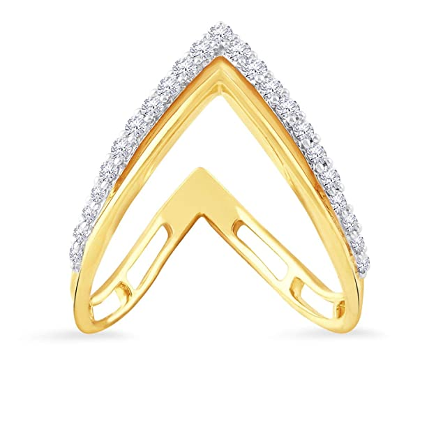 Malabar Gold and Diamonds 18KT Yellow Gold and Diamond Ring for Women Women's Rings