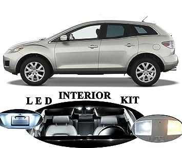 Luces LED para Mazda CX-7 CX7 Xenon Blanco Led paquete actualización - interior + placa de licencia/etiqueta + Reverse copia de seguridad/(12 piezas): ...