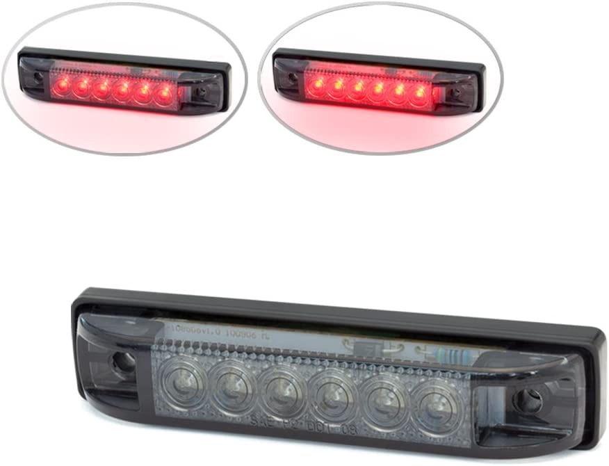 4 100mm Flush Mount Smoked Motorcycle LED Stop//Tail Light for Streetfighters Scramblers and Brat Bikes Cafe Racers