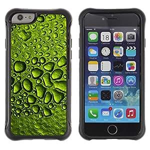 LASTONE PHONE CASE / Suave Silicona Caso Carcasa de Caucho Funda para Apple Iphone 6 PLUS 5.5 / Dew Drops Water Rain Leaf Nature