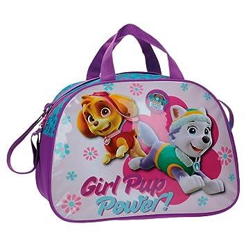 La Patrulla Canina Paw Patrol Girl Bolsa de Viaje, Color Rosa