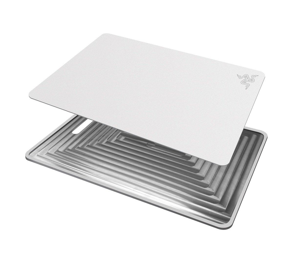 Razer Invicta Mercury Bianco Tappetino per Mouse per Gioco da Computer