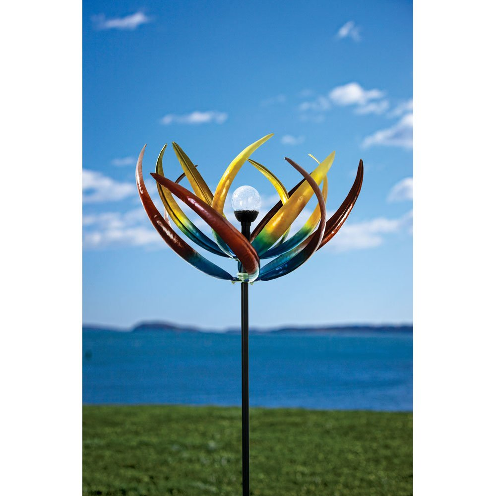 Bits and Pieces - Solar Multi-Color Tulip Wind Spinner