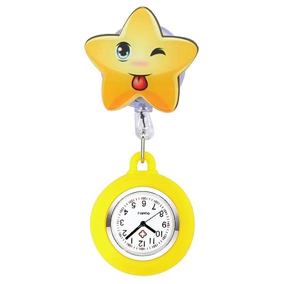jsdde Enfermera Reloj Pulso Reloj Nurse Watch Bata Reloj Silicona Dibujos Animados Reloj de Bolsillo Enfermera con Clip # 1: Amazon.es: Relojes