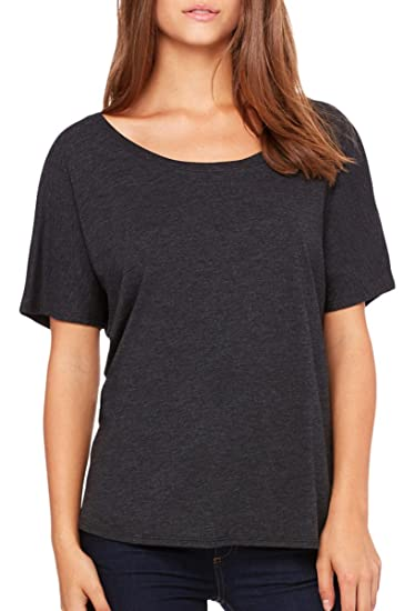 8a2fe2ec Bella Canvas Ladies' Slouchy T-Shirt at Amazon Women's Clothing store: