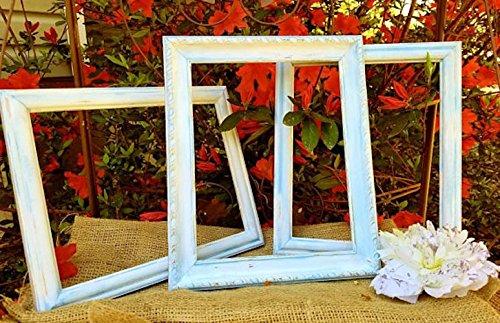 Amazon.com: 3 piece open frame set, baby blue & white, Rustic ...