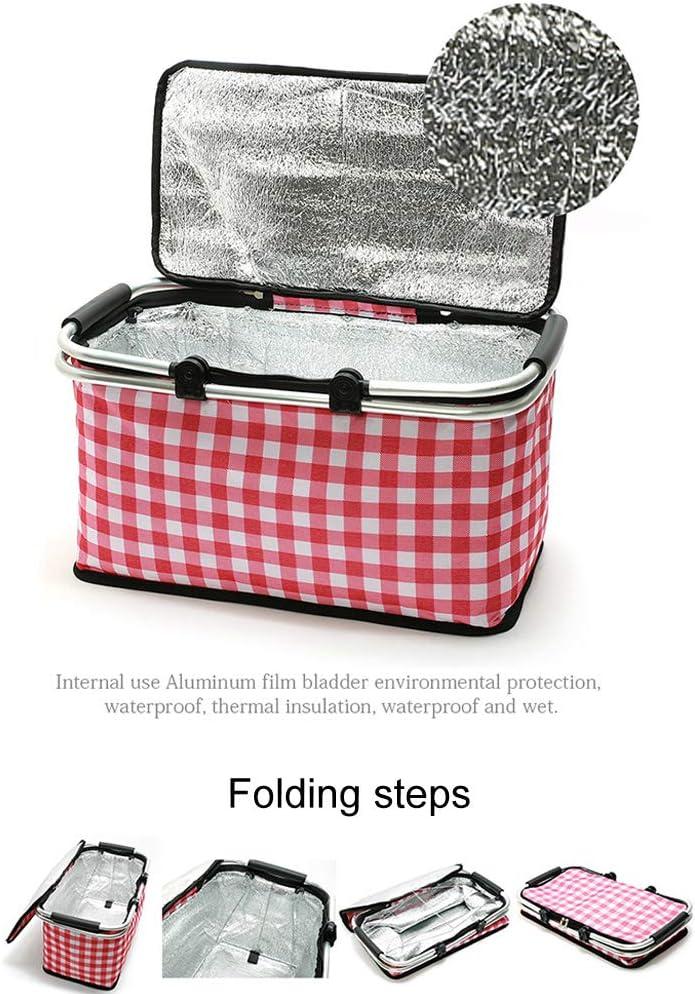 faltbar gro/ße K/ühltasche 29 l isoliert Lunchbox rot Camping Free Size isoliert Picknick Picknickkorb Wandern Einkaufskorb f/ür Outdoor Reisen