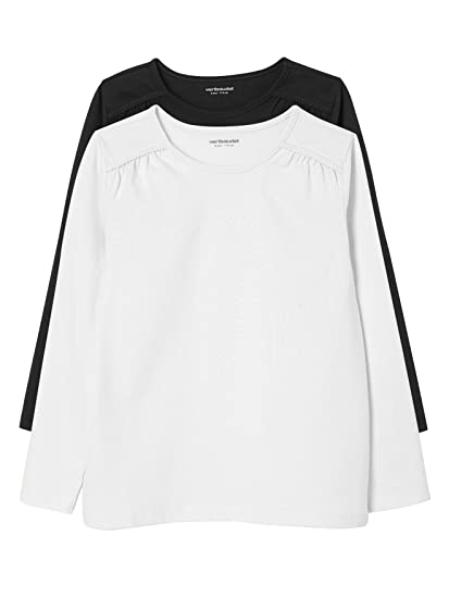 VERTBAUDET Lote de 2 Camisetas Lisas de Manga Larga Niña: Amazon.es: Ropa y accesorios