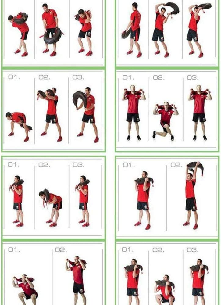 Vide Sac de Sable de Boxe Durable en Cuir PU pour entra/înement de Musculation LCAZR 5-20KG Sac bulgare,Sac de Poids dentra/înement en Sacs de Sable