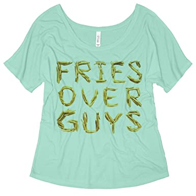 6b8c9289 Fries Over Guys: Bella Ladies Flowy Slouchy Tee at Amazon Women's Clothing  store: