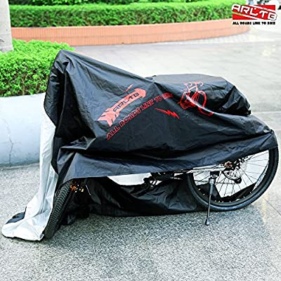 Arltb Bike Cover Outdoor Waterproof 190T Nylon Polyester Cycle Bicycle Cover Large Size For Mountain Motor Road Electric Bike Motorcycle Bike Rack Free Storage Pouch Included Bike Cycling Accessories