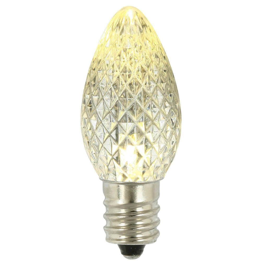 LED C7 Replacement Christmas and Holiday Light Bulbs, Commercial Grade, E12 Sockets By Minleon (100, Warm White)