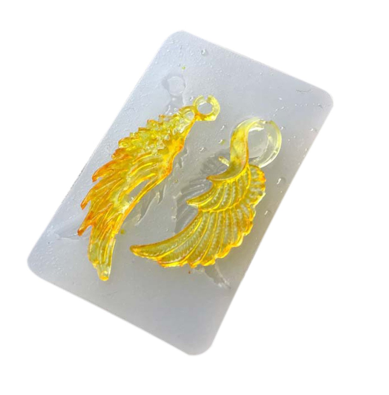 2 Holes Angel Wings Crystal Pendant DIY Jewels Mold Beading Casting Mould DIY Handmade Silicone Mould Clear Mould For Resin Crystal Lovely Gift UKPJDY-Q128