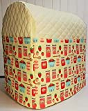 Quilted Strawberries & Jam Kitchenaid Lift Bowl Stand Mixer Cover (Cream)