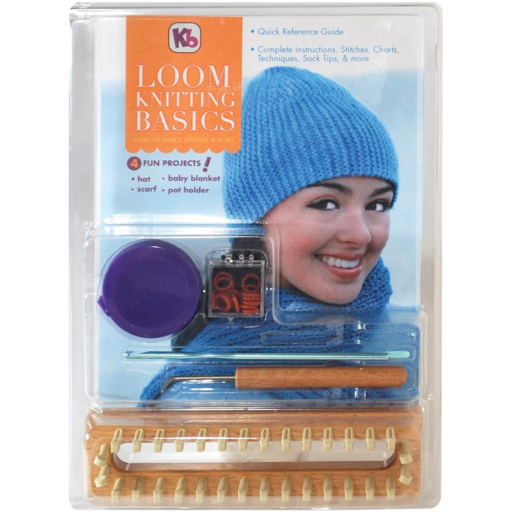 Authentic Knitting Board Loom Kniting Basics Kit Knitting Looms KB4518