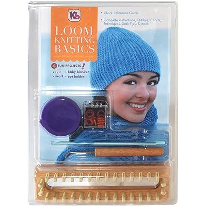 Amazon Authentic Knitting Board Loom Kniting Basics Kit