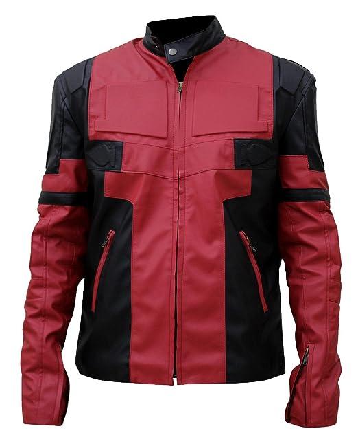 Zouq Fashions Deadpool Ryan Reynolds del hombres chaqueta de piel auténtica Same as Picture XX-Large: Amazon.es: Ropa y accesorios