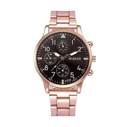 Modaworld Reloj Hombre Casual, Reloj de Pulsera de Cuarzo analógico de Acero Inoxidable para Hombre Relojes Casual De Moda Negocios Relojes Deportivos: ...