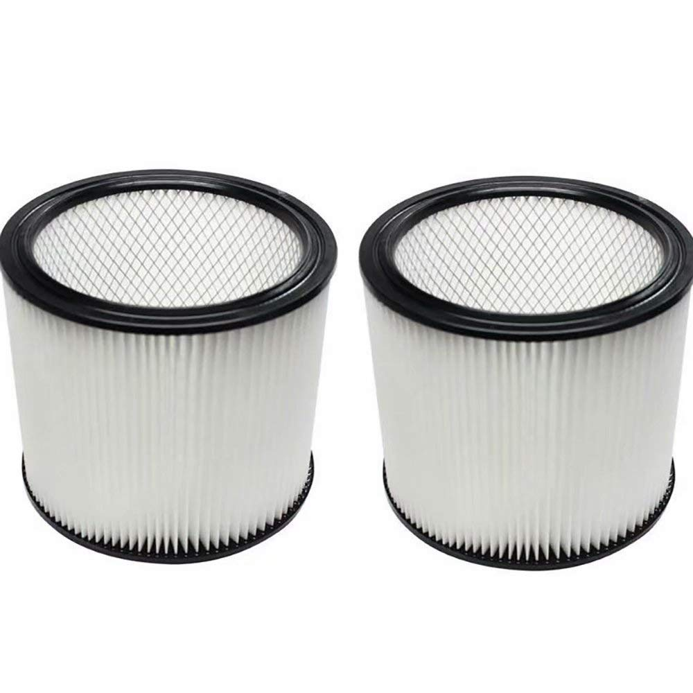 ANBOO Filter Replacement for Shop VAC 90304 Vacuum Cleaner Attachment Cartridge Filter Fit 5 Gallon and Larger Compatible for Shop VAC We & Dry Vaccuum Accessories Filter 2 Pack