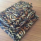 Rajlinen RV Mattress SHORT QUEEN SHEET SET - (60x75) Tiger Print 400 Thread Count Egyptian Cotton -Made Specifically for RV, Camper & Motorhomes