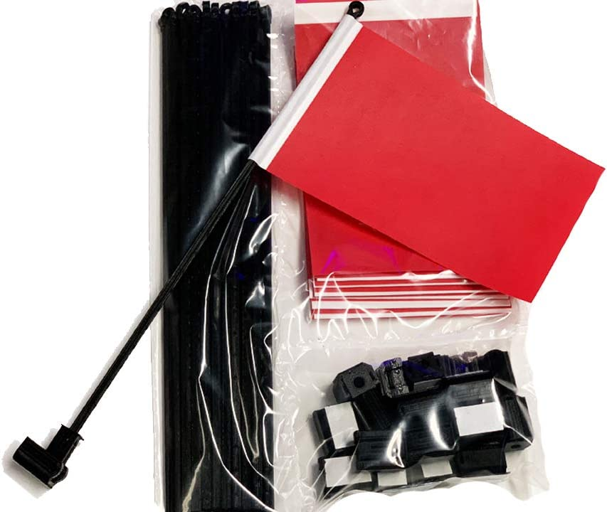 20 Pack Red Desk Flags with Flag Up Flag Down Flip Clips Pomodoro Status Alert Office