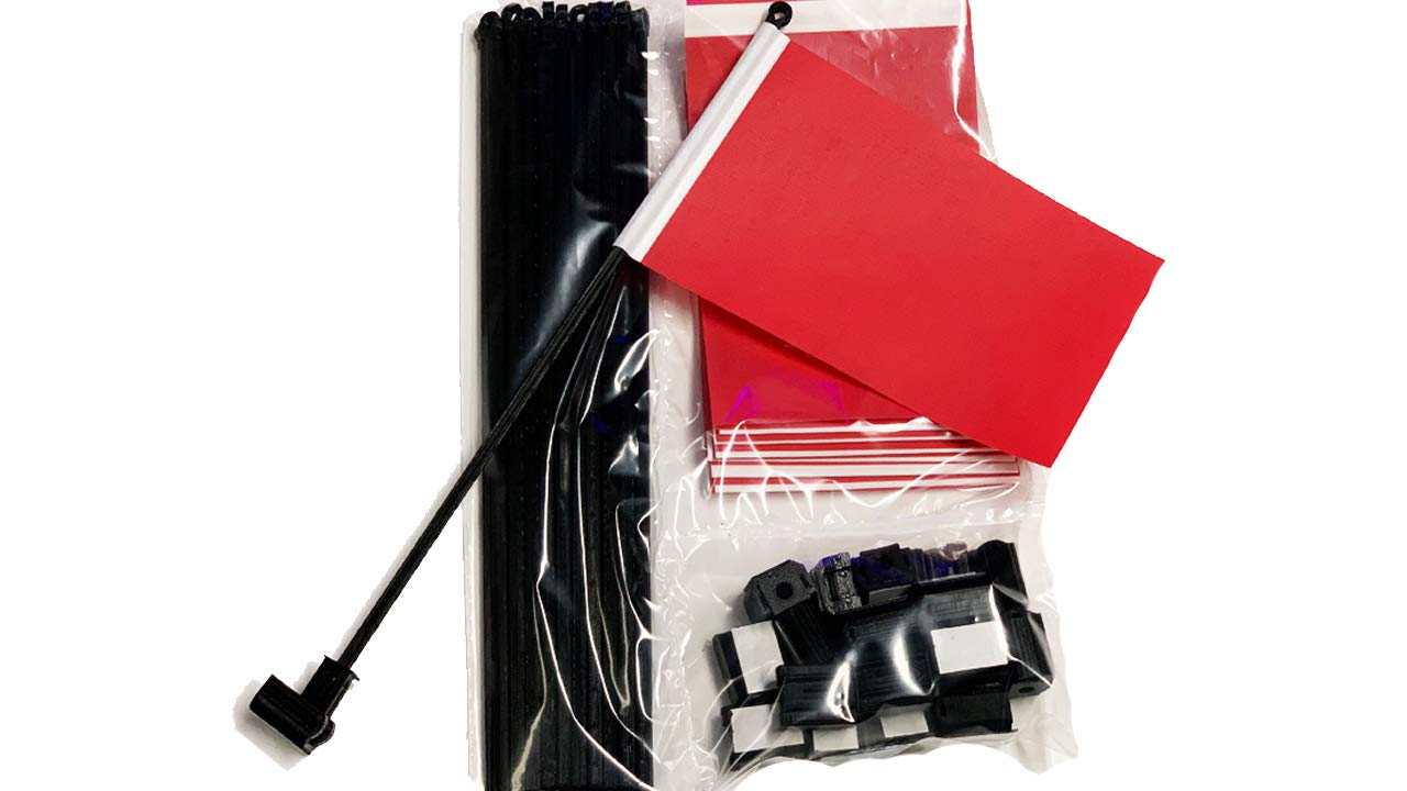 20 Pack Red Desk Flags with Flag Up Flag Down Flip Clips Pomodoro Status Alert Office by Deskflag