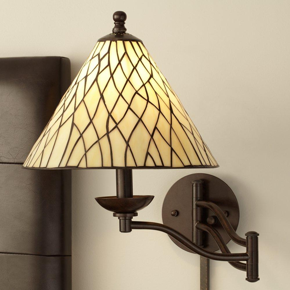 Robert Louis Tiffany Iron Vine Swing Arm Wall Lamp - Wall Porch ...