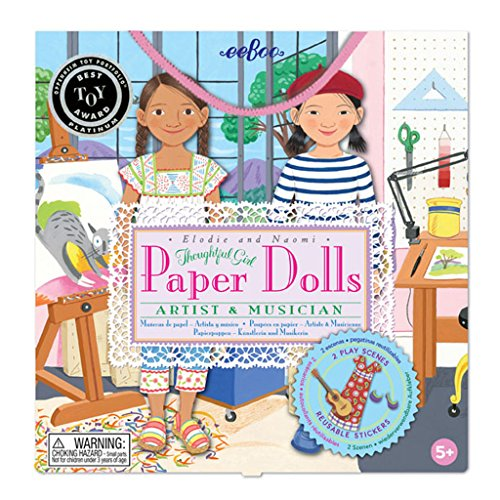 Paper Doll Game (eeBoo Musician and Artist Paper Doll Set)