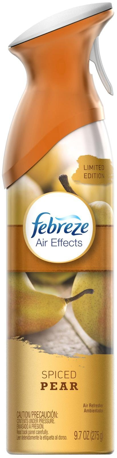 Febreze Air Effects - Limited Edition - Spiced Pear - Net Wt. 9.7 OZ (275 g) Each - Pack of 2