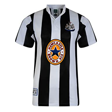 Newcastle United FC Official Mens 1996 Shirt (XL) (Black and White ... 9e71a5429