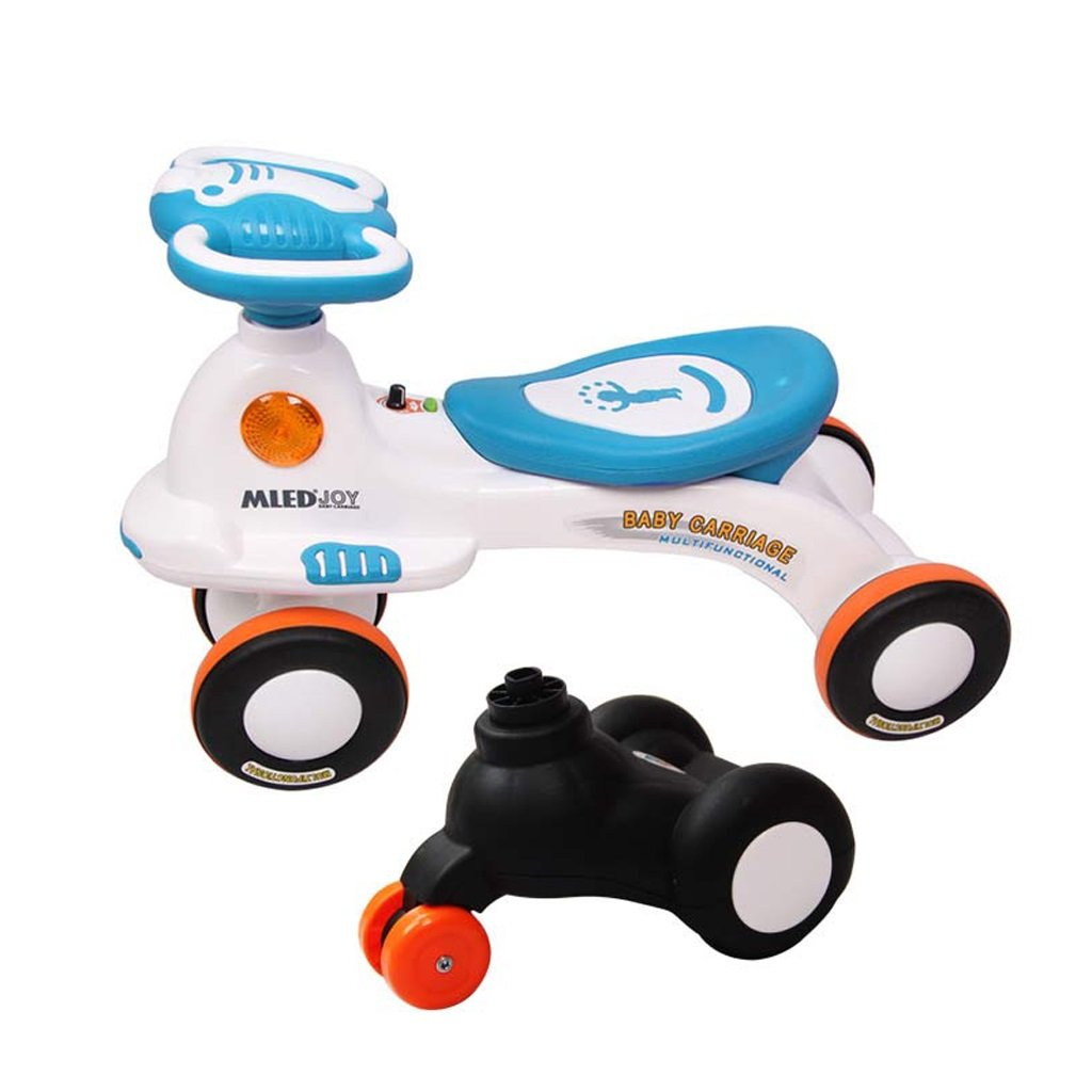 Fenfen子ミュートツイスト車2 – 6年古い赤ちゃんスクータースイング車音楽Yo車に交換可能フロントホイール、ブルー/ピンク、6644 CM B07C4TRTRFブルー