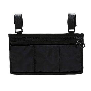Bolsa para reposabrazos de silla de ruedas, bolsa lateral para colgar con reposabrazos para scooter, color negro: Amazon.es: Salud y cuidado personal
