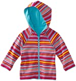 Zutano Baby Girls' Multi Stripe Reversible Zip Hoodie
