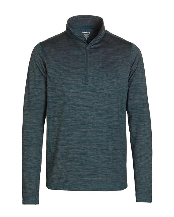 Landway Womens 1//4 Zip Front Zipper Textured Fleece Pullover