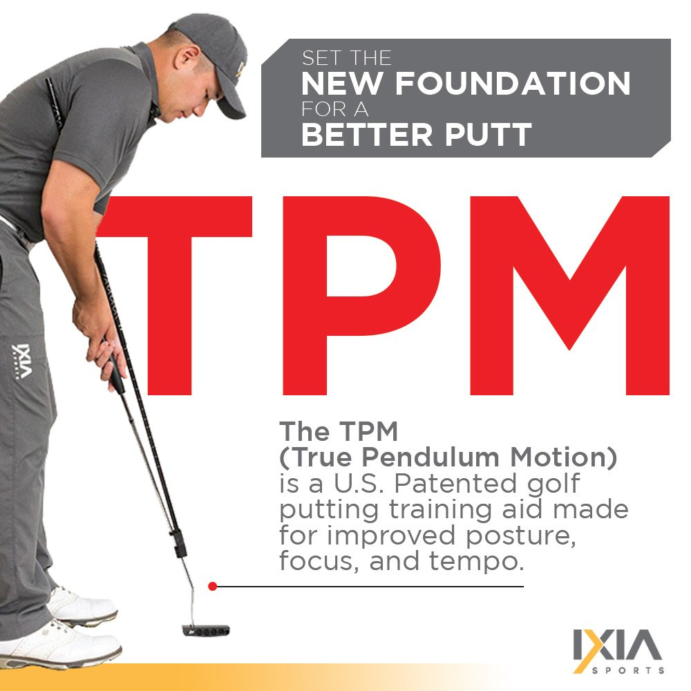 IXIA Sports True Pendulum Motion Golf Putting Trainer - Fits Any Putter - Detachable, Adjustable Length Alignment Rods - Promotes Perfect Posture - For ALL Levels, Juniors & Adult by IXIA Sports (Image #3)