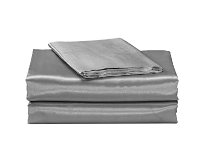 "EHP Super Soft /& SIlky 4PC Satin Sheet Set Solid//Deep pocket 14/"" Deep Pocket"