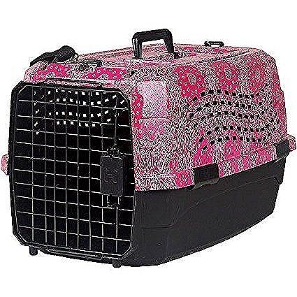 Lixit Animal Care Bandana Print Two Door Pet Carrier, 23''