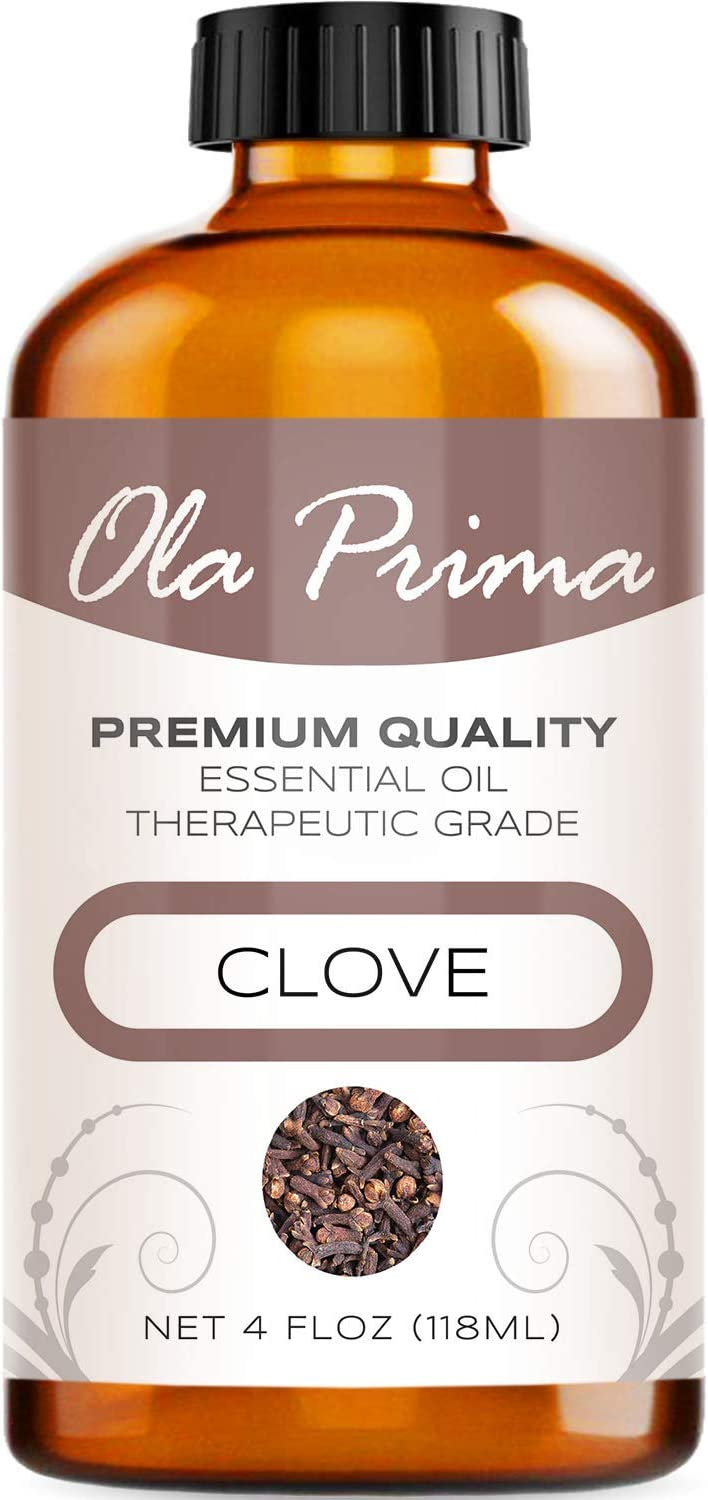Ola Prima 4oz - Premium Quality Clove Essential Oil (4 Ounce Bottle) Therapeutic Grade Clove Oil