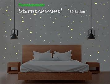 Sternenhimmel 489 Leuchtpunkte/Sterne, Aufkleber - Sticker ...