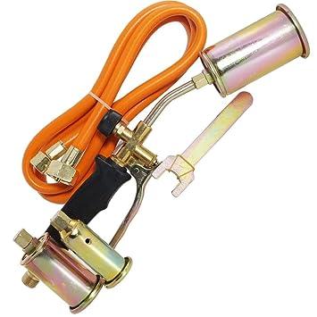 TradeShopTraesioOX Soplete Soldador a Gas Para Tubo Corrugado asfalto quemador accesorios Tubo Becchi: Amazon.es: Hogar
