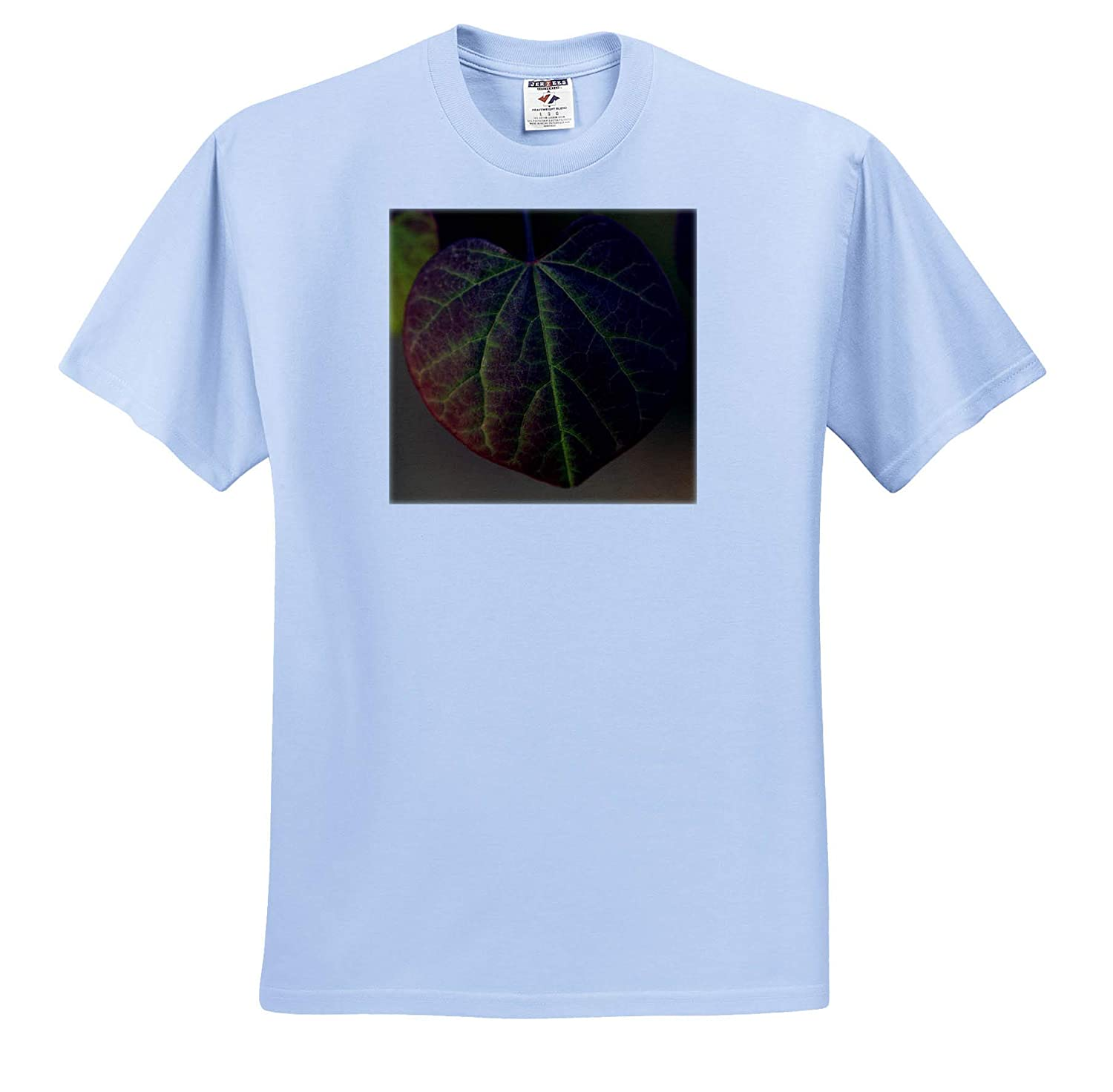 Plants ts/_312219 Macro Photograph of a Ruby Falls Weeping Eastern Redbud Leaf - Adult T-Shirt XL 3dRose Stamp City