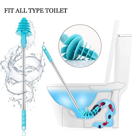 Toilet Plunger - Lypulight 2nd Gen Powerful Toilet Dredge Tools ...